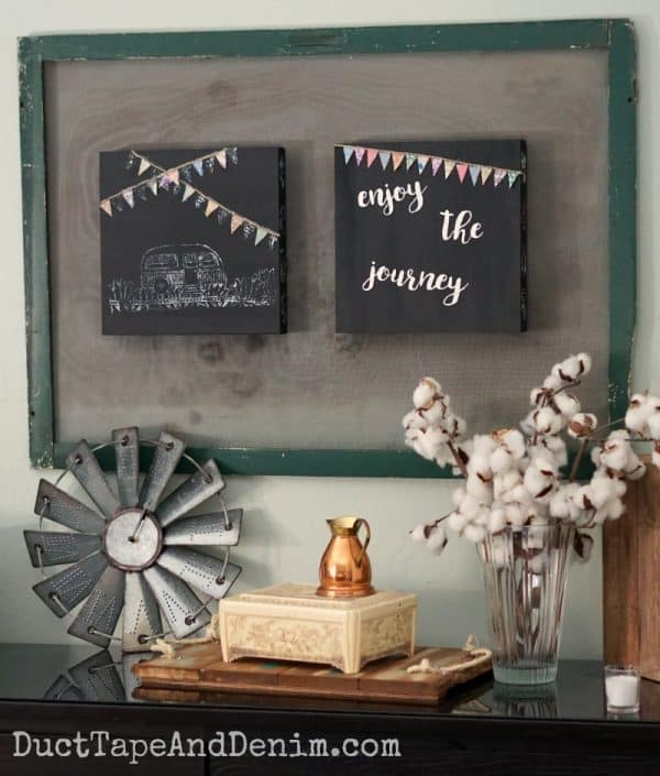 Enjoy the journey vintage camper trailer signs, stenciled wood signs | DuctTapeAndDenim.com