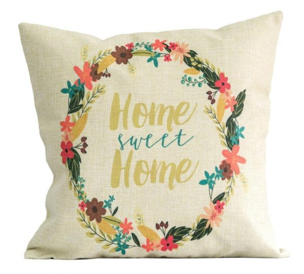 Home Sweet Home Floral Pillow Cover, see more spring pillow covers on DuctTapeAndDenim.com