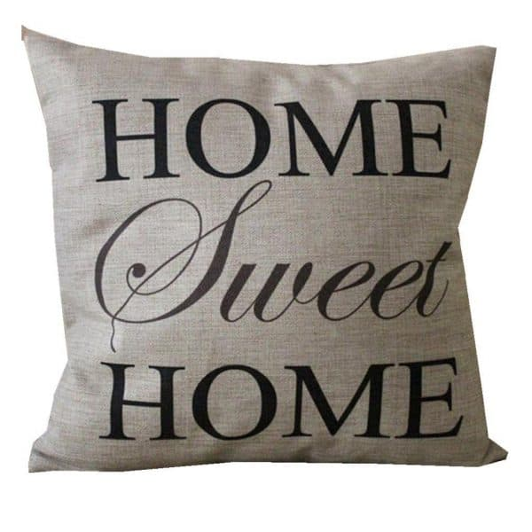 Home sweet home pillow cover, see more spring pillow covers on DuctTapeAndDenim.com
