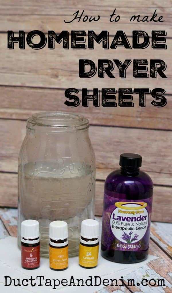 How to make homemade dryer sheets, DIY tutorial on DuctTapeAndDenim.com