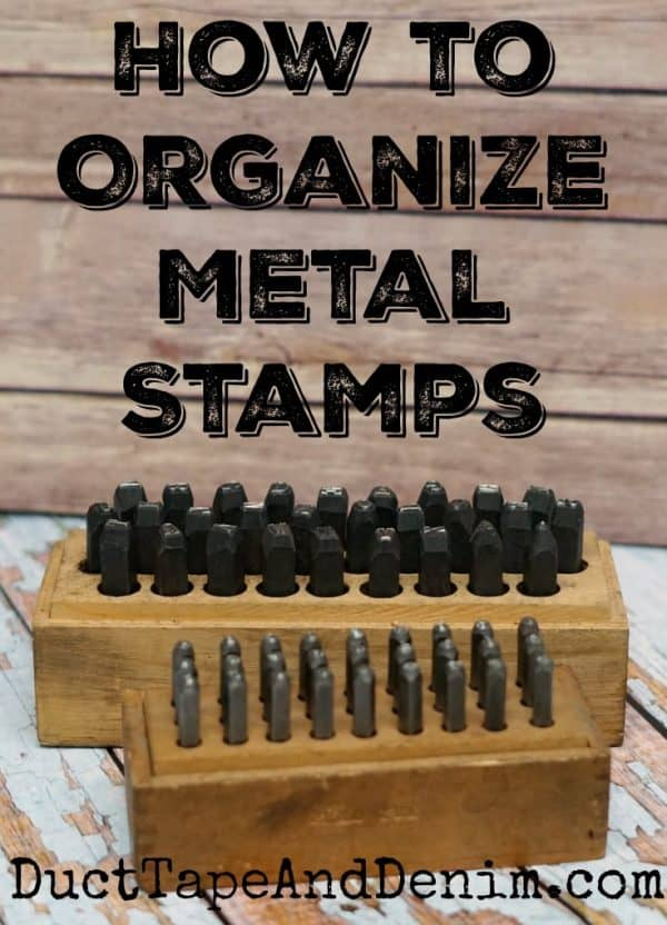 How to store and organize metal stamps | DuctTapeAndDenim.com