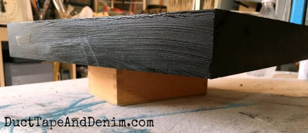 Paint wood canvas black | DuctTapeAndDenim.com
