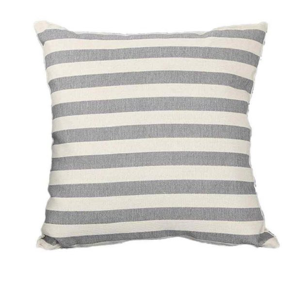 Simple Gray Striped Pillow Cover, see more spring pillow covers on DuctTapeAndDenim.com