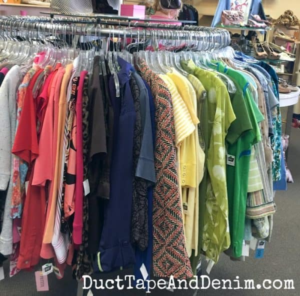 Thrifting for clothes, tips for buying used clothes at thrift stores | DuctTapeAndDenim.com