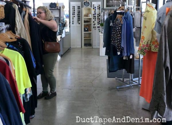 Tips for shopping for used clothes at thrift stores | DuctTapeAndDenim.com