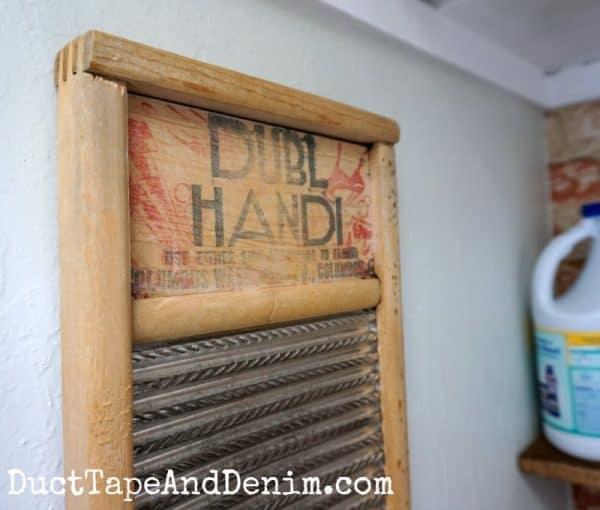 Vintage washboard | DuctTapeAndDenim.com