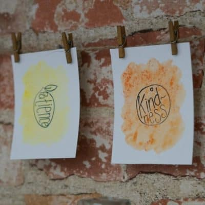 DIY Stamped & Watercolor Fruit of the Spirit Garland