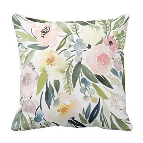 Watercolor Pattern pillow case, see more spring pillow covers on DuctTapeAndDenim.com