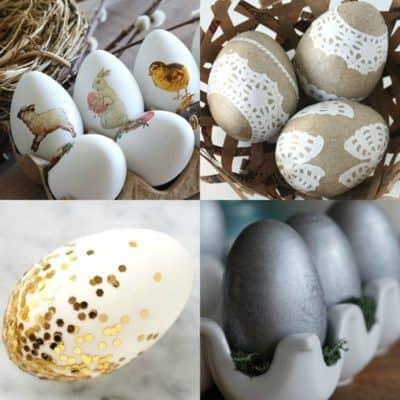 50 DIY Easter eggs on DuctTapeAndDenim.com
