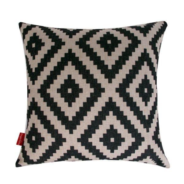 Black Geometric Pillow Cover