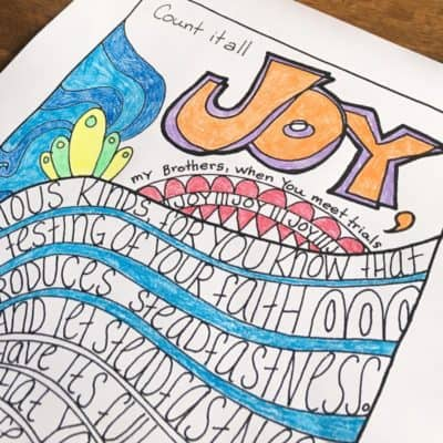 Free Hand-Drawn Bible Verse Coloring Page – James 1:2-4