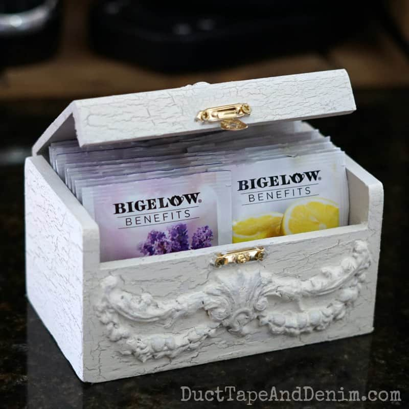 How To Make A Diy Wooden Tea Box For My Bigelow Tea Station