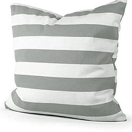 Gray Striped Pillow Cover, more Fixer Upper style pillow covers on DuctTapeAndDenim.com