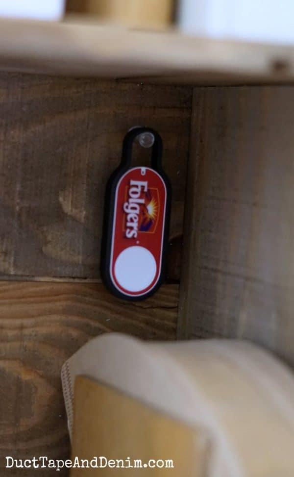 My Folgers Amazon Dash Button | DuctTapeAndDenim.com