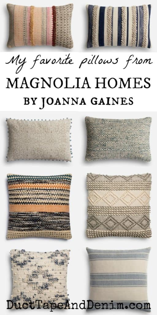My favorite pillows from Magnolia Homes by Joanna Gaines
