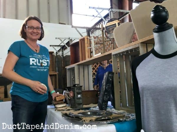 Setting up my Roses and Rust booth | DuctTapeAndDenim.com