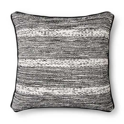Woven decorative pillow from Target