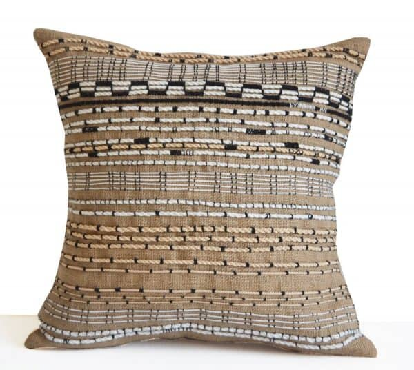 handcrafted woven textured pillow cover