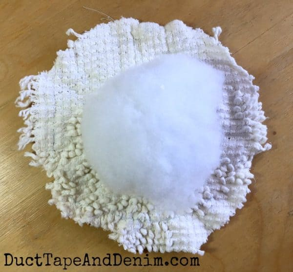making the pin cushion | DuctTapeAndDenim.com