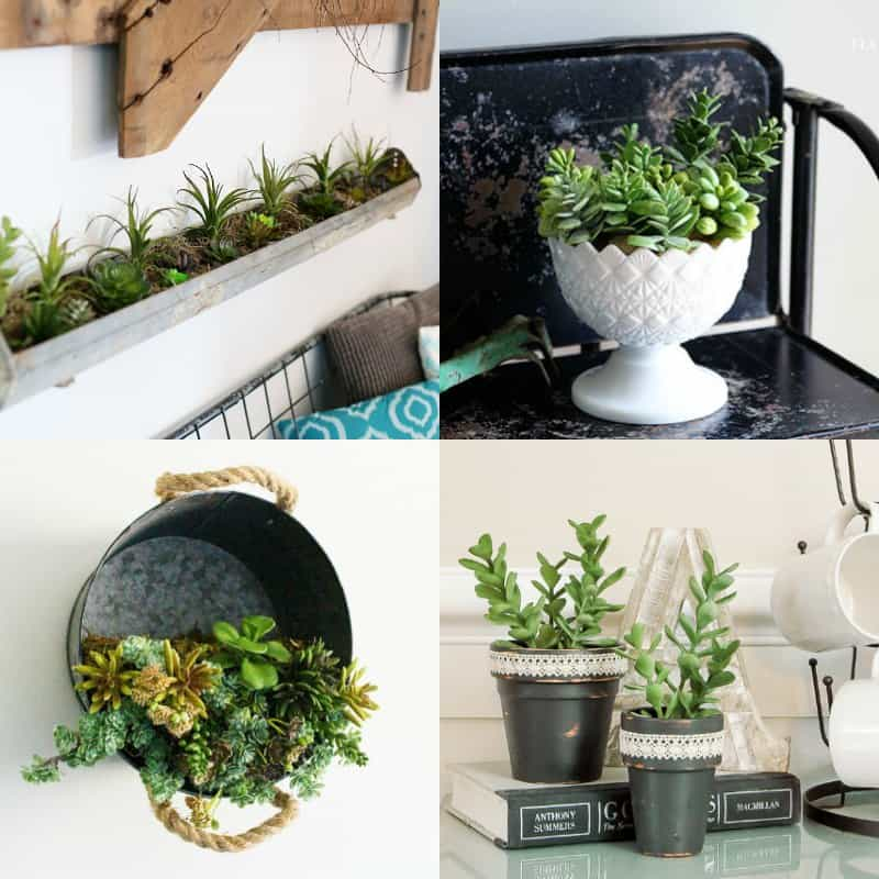 Easy Diy Faux Succulent Planters For Those Without A