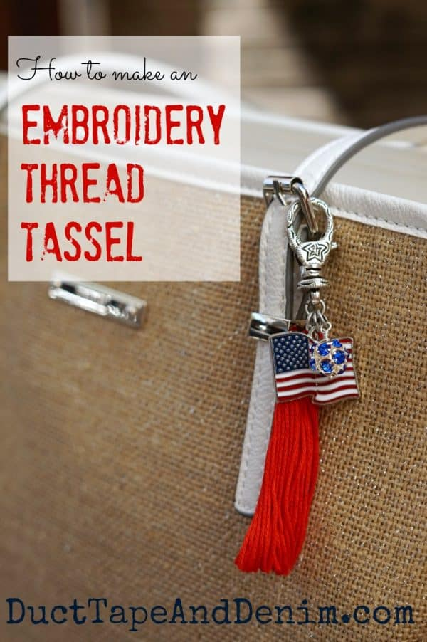 How to make a tassel out of embroidery thread. Tutorial on DuctTapeAndDenim.com