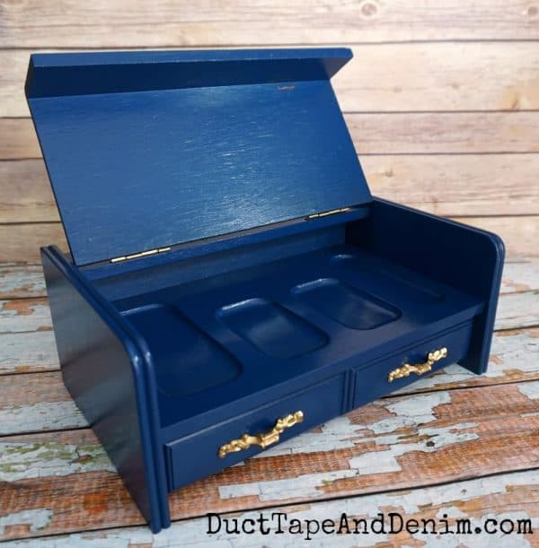 Inside my mens valet jewelry box makeover | DuctTapeAndDenim.com