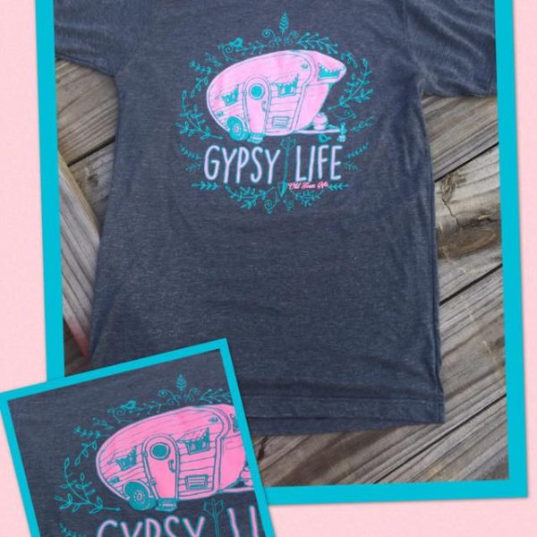 Gypsy Life t-shirt tee shirts camper vintage glamping style