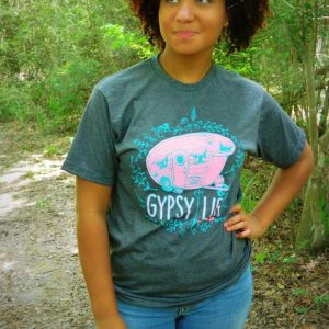 Gypsy Life vintage camper tee t-shirt glamer glamping