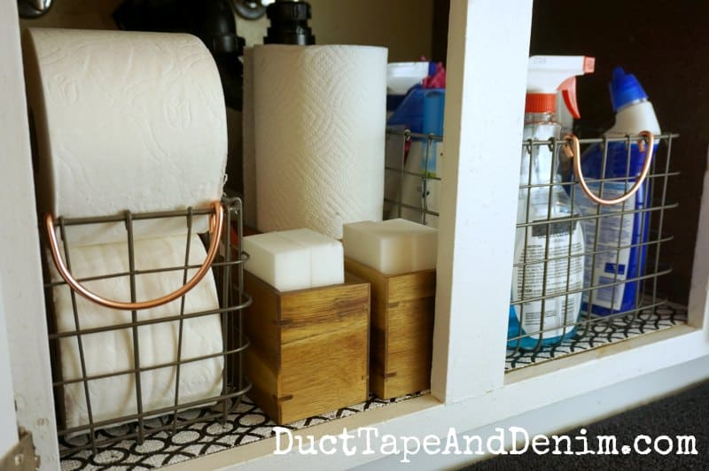 How to get a small bathroom organized | DuctTapeAndDenim.com