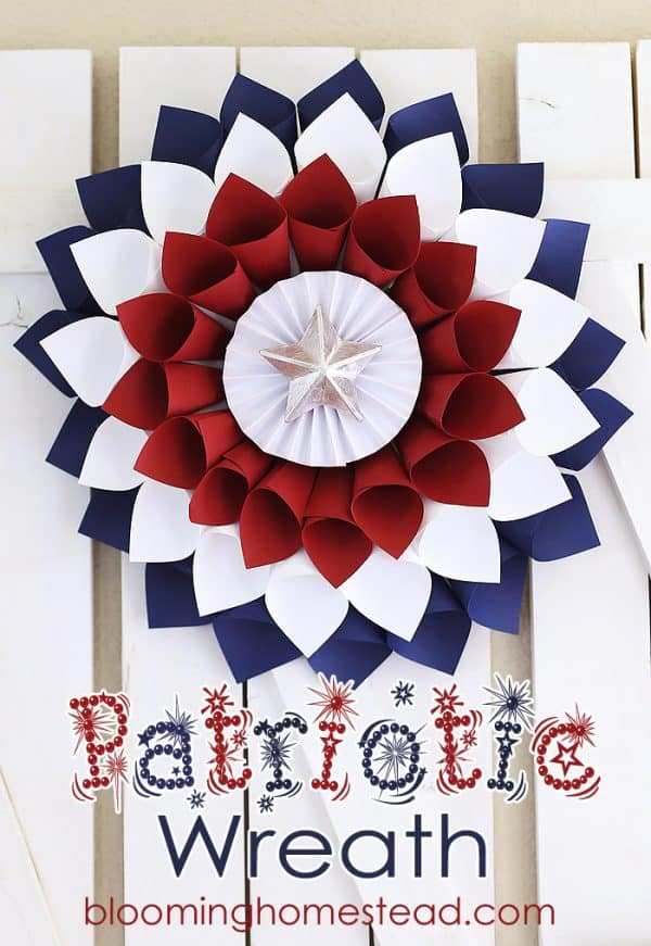 Paper cone patriotic wreath