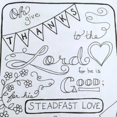 Psalm 118:1 Scripture Coloring Page