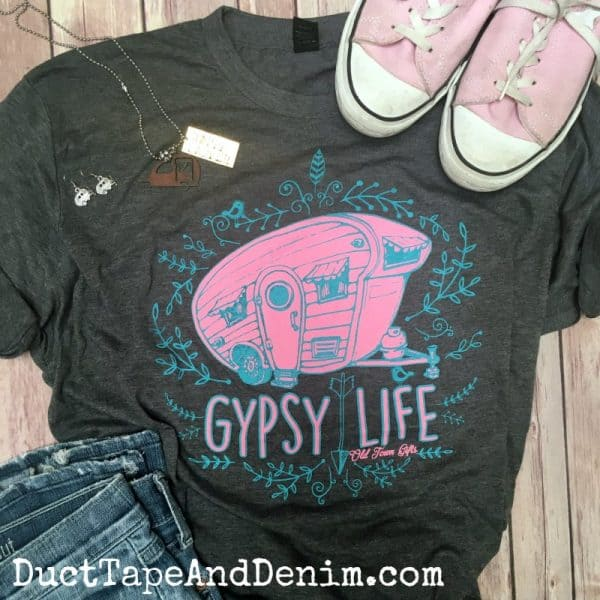 GYPSY LIFE Vintage camper t-shirt. This super soft shirt is perfect for glamping! DuctTapeAndDenim.com