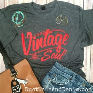 VINTAGE SOUL T-Shirt - Perfect for a day of thrifting at flea markets and garage sales! DuctTapeAndDenim.com
