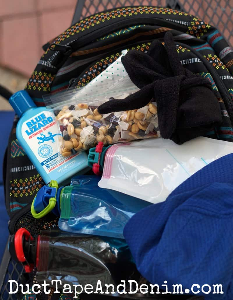 what to take in backpack when hiking | DuctTapeAndDenim.com