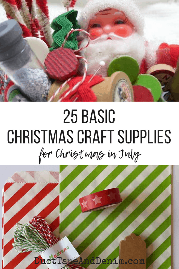 25 Basic Christmas Craft Supplies collage 1