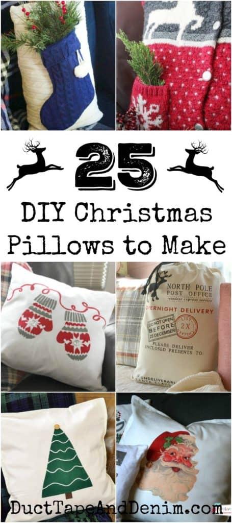25 DIY holiday pillows to make for Christmas