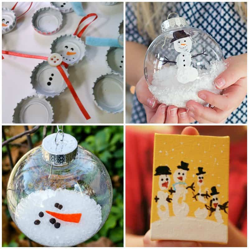 30 Easy Snowman Ornaments You Can Make For Christmas