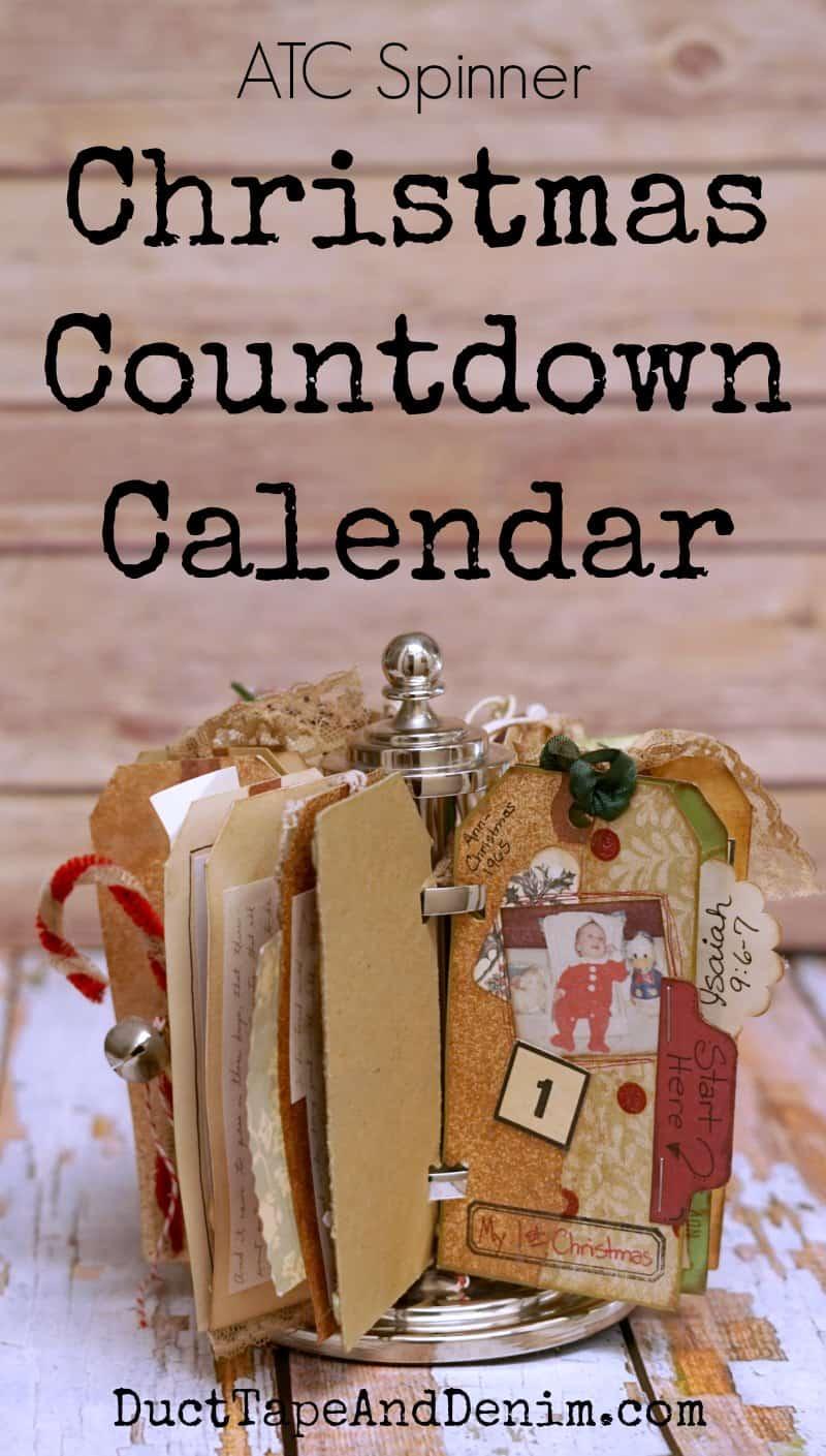 ATC Spinner Christmas Countdown Calendar, 7gypsies | DuctTapeAndDenim.com