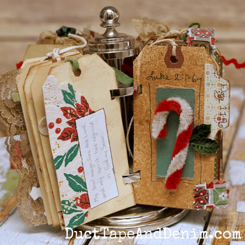 ATC spinner Advent calendar for Christmas | DuctTapeAndDenim.com