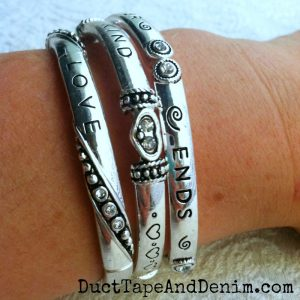 1 Corinthians 13 bracelet, Love is patient kind never ends | DuctTapeAndDenim.com