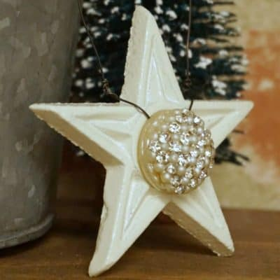 How to Make Shabby Chic Cast Iron Star Ornaments