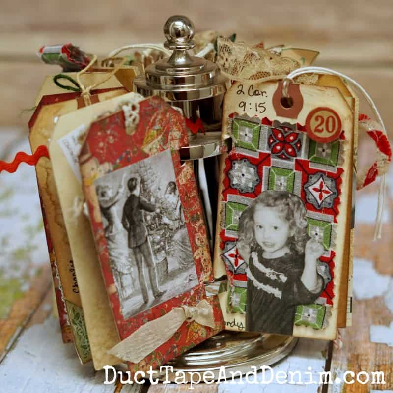 Christmas Advent calendar with old family photos | DuctTapeAndDenim.com