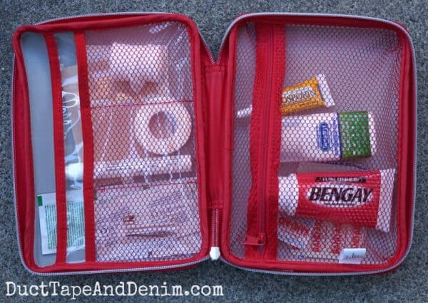 DIY first aid kit from target | DuctTapeAndDenim.com