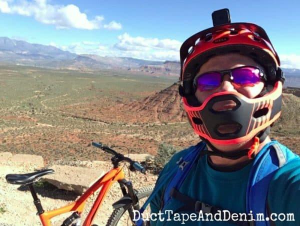 Glenn and his mountain bike | DuctTapeAndDenim.com