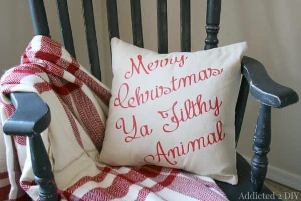 Merry Christmas ya filthy animal pillow