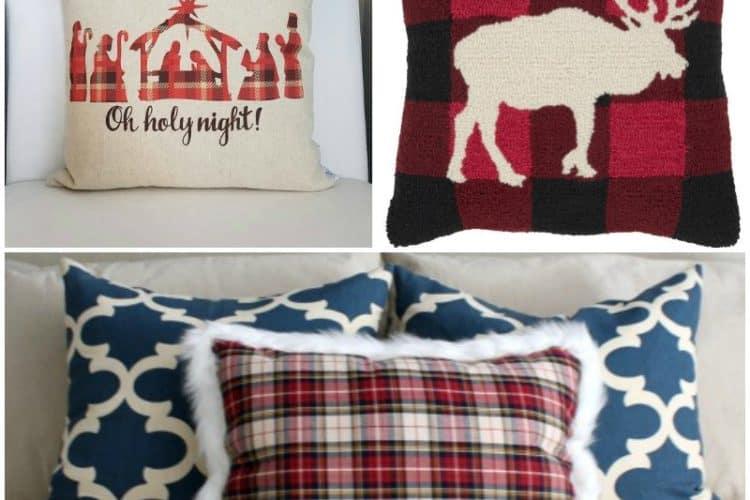 26 Plaid Pillows to Make or Buy for Christmas