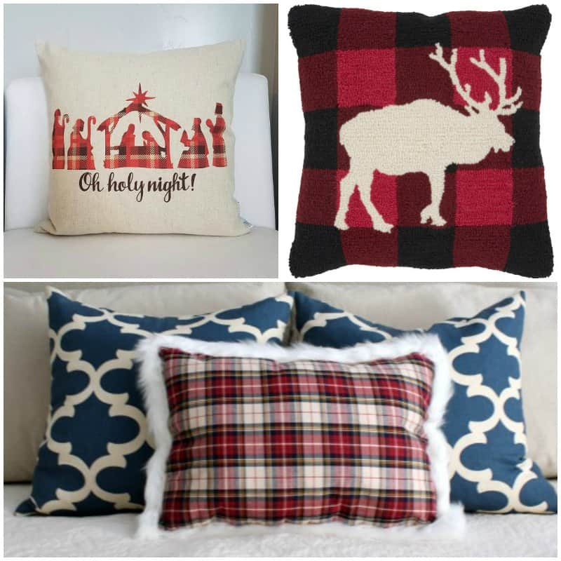 26 Plaid Pillows To Make Or Buy To Add Christmas Color In