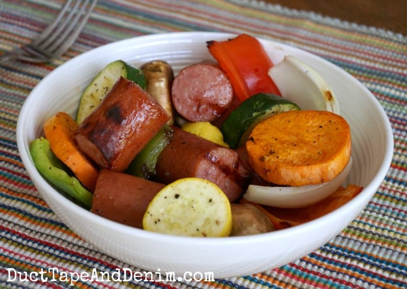 Sausage sweet potato hash for summer meal   DuctTapeAndDenim.com