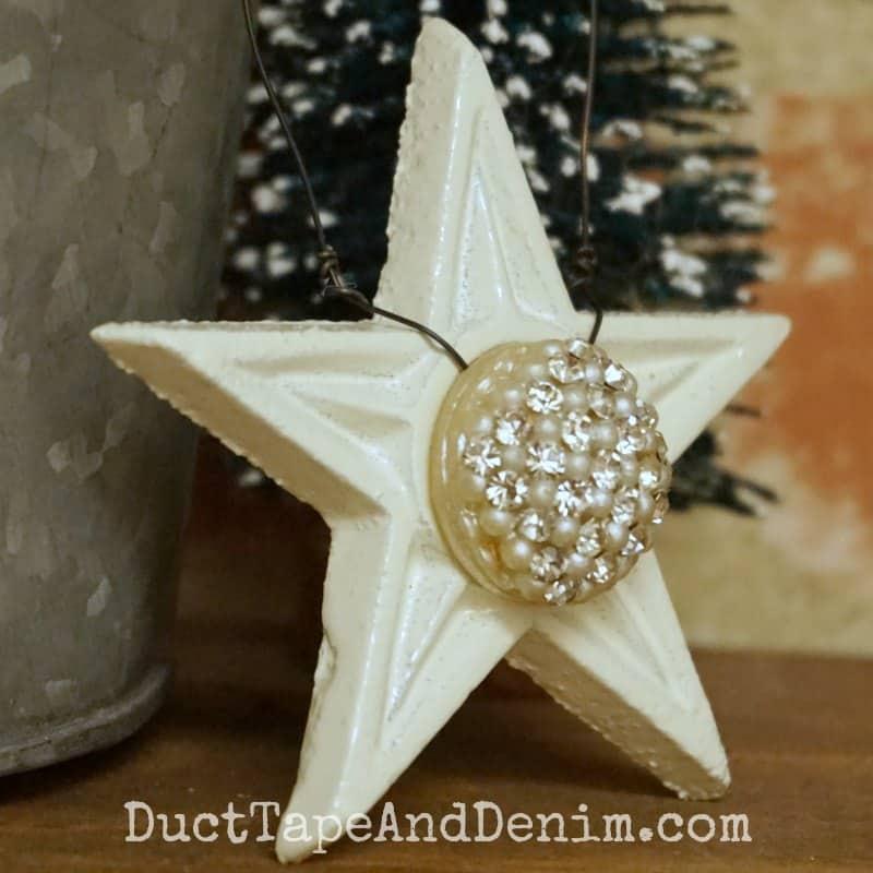 Star Christmas ornament | DuctTapeAndDenim.com