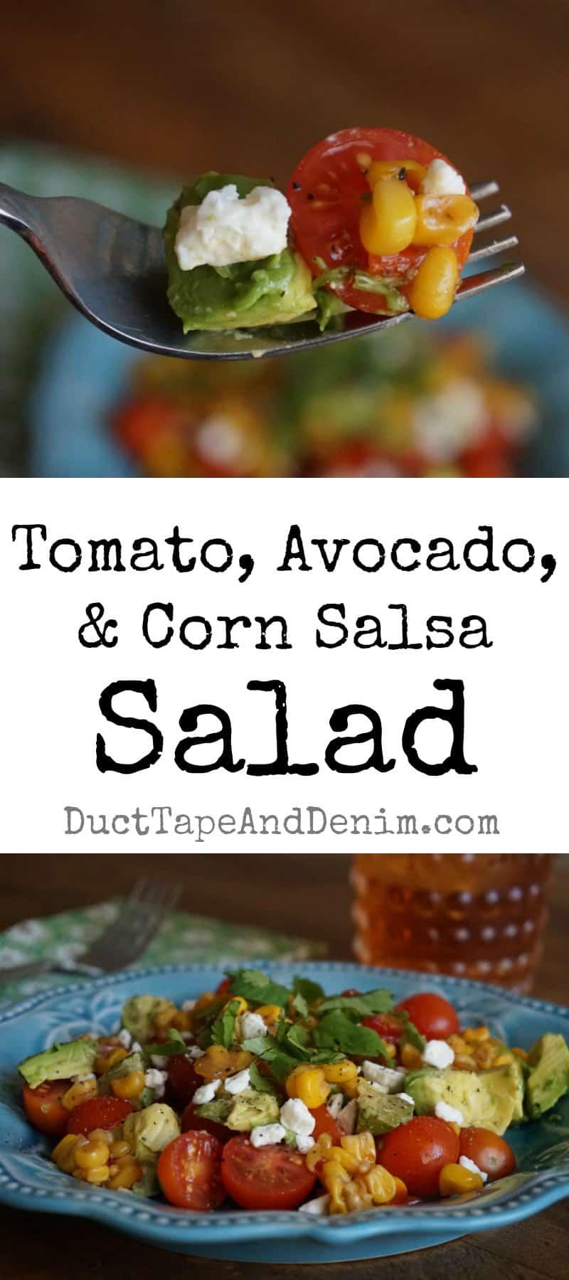 Tomato avocado and corn salsa salad recipe, Trader Joe's | DuctTapeAndDenim.com